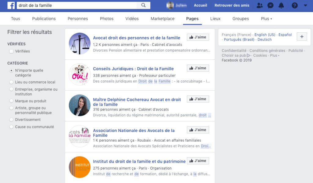 facebook-exemple-pages-droit-famille