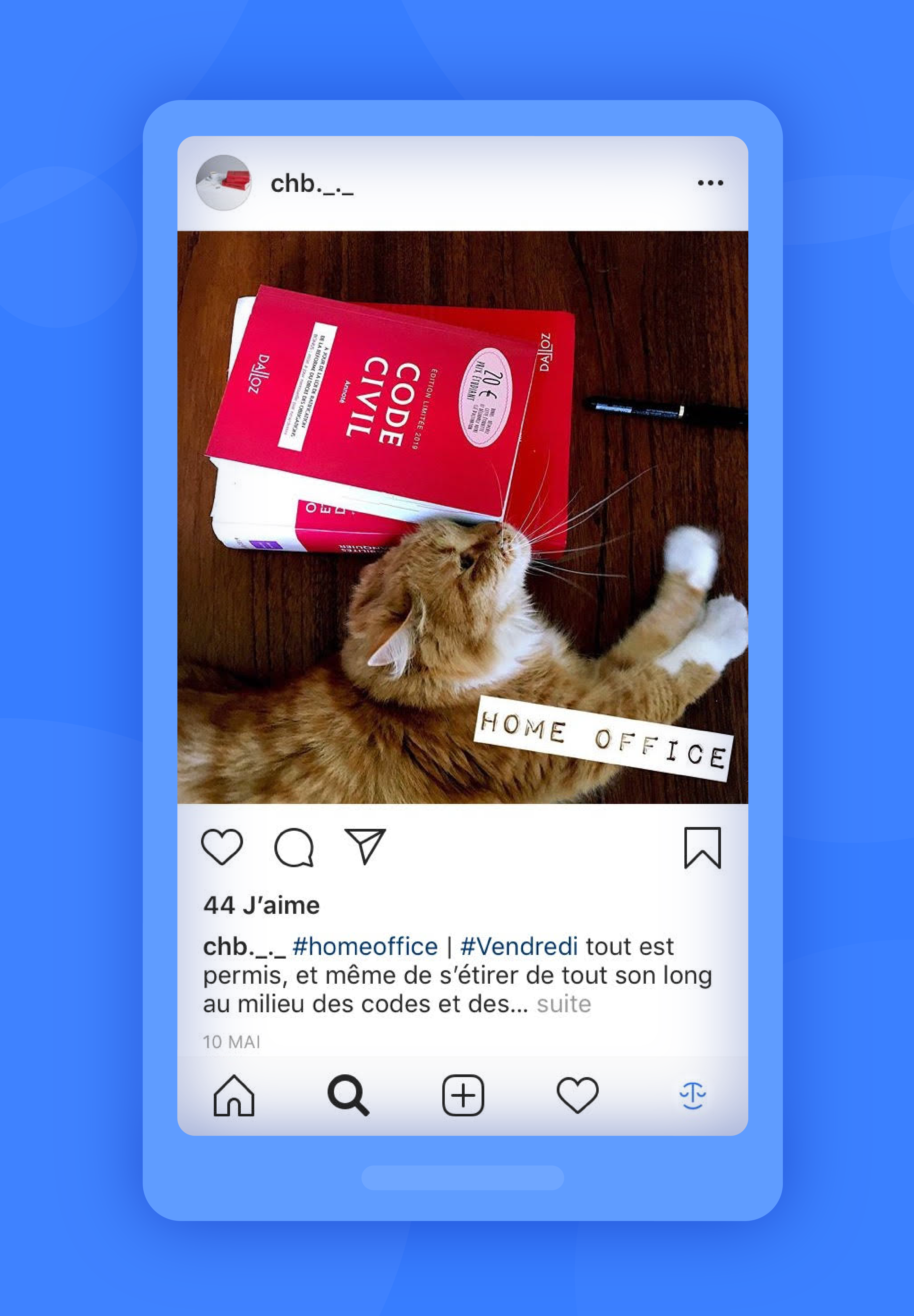 instagram exemple chb