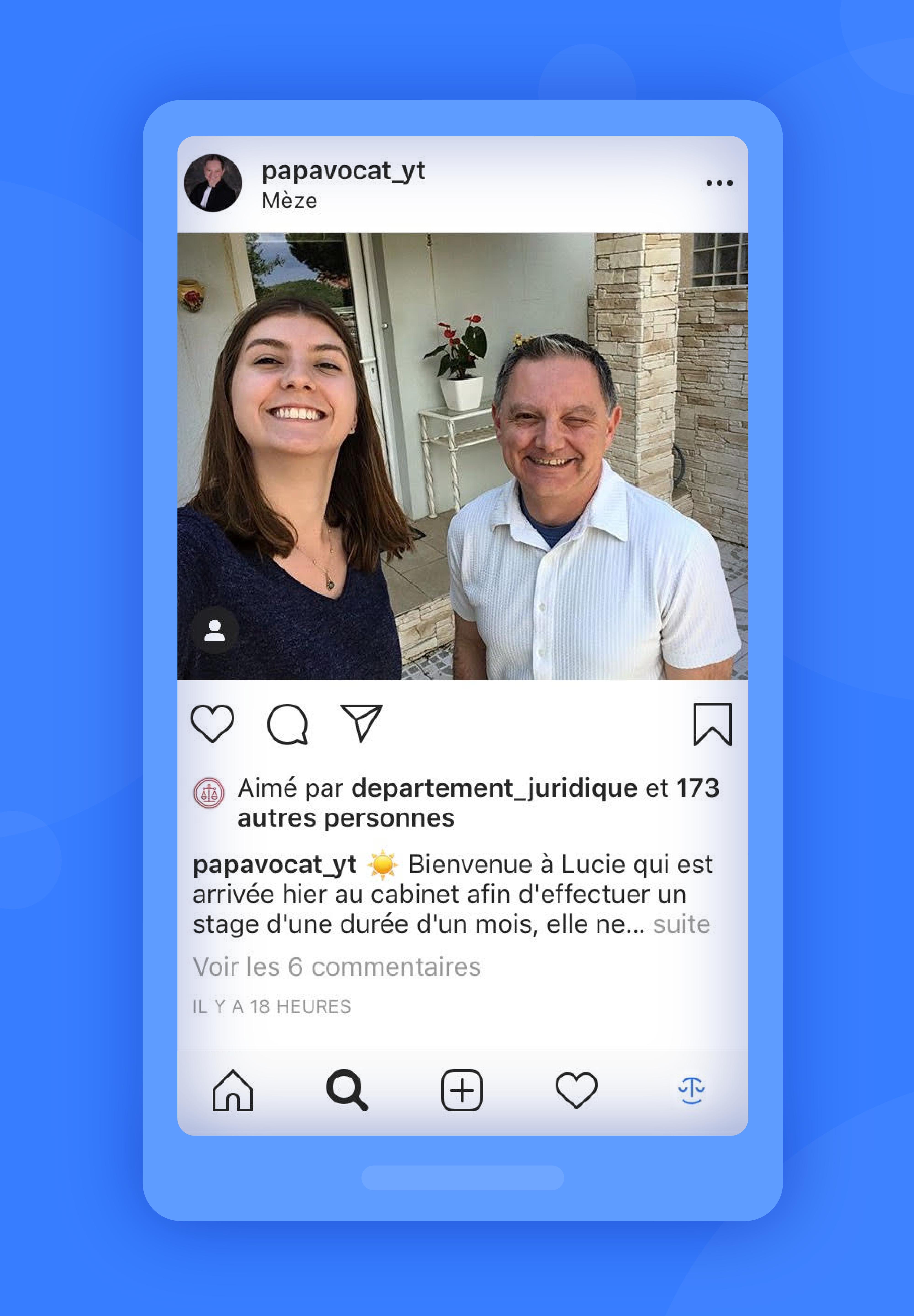 instagram exemple papavocat_yt