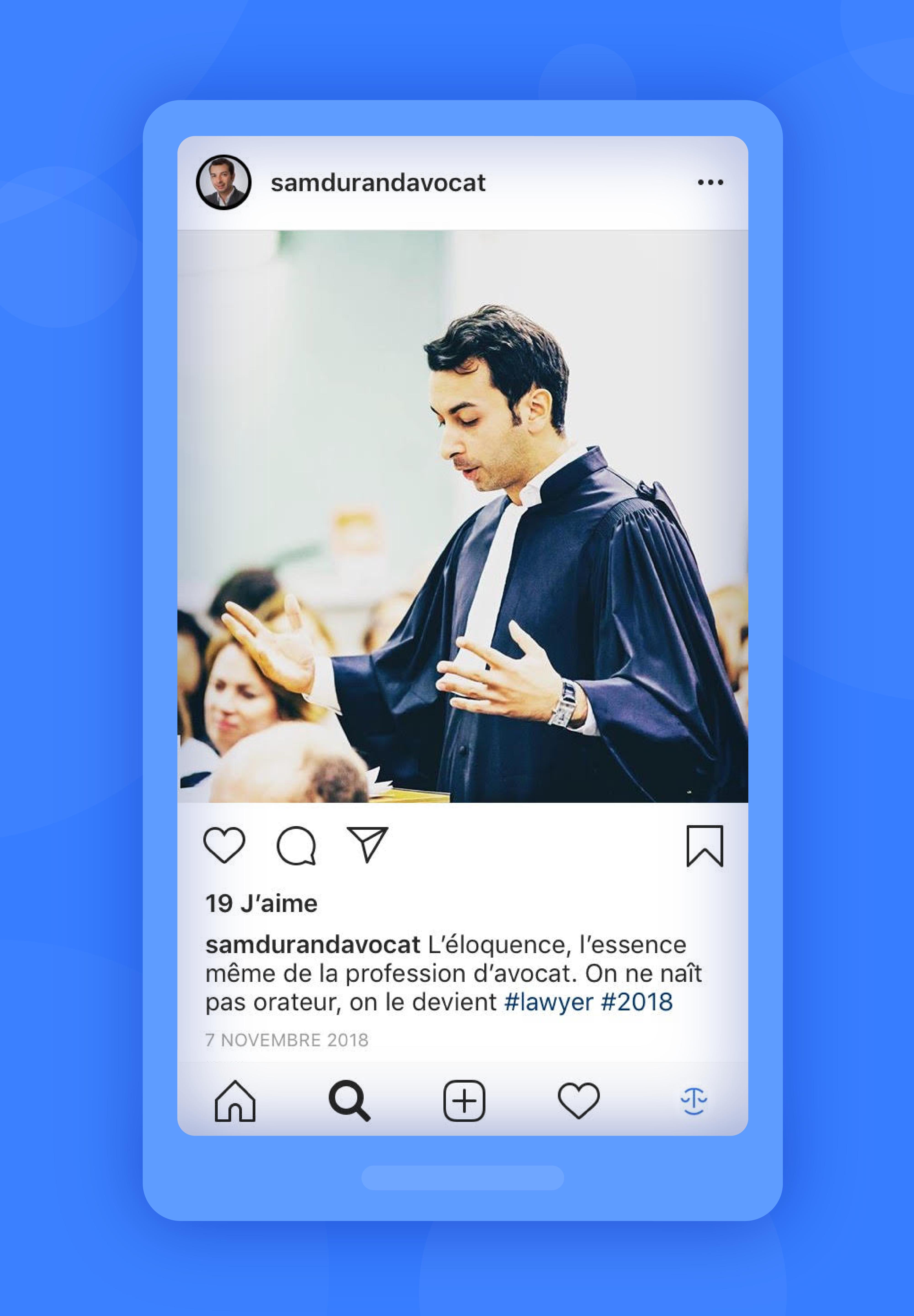 instagram exemple samdurandavocat