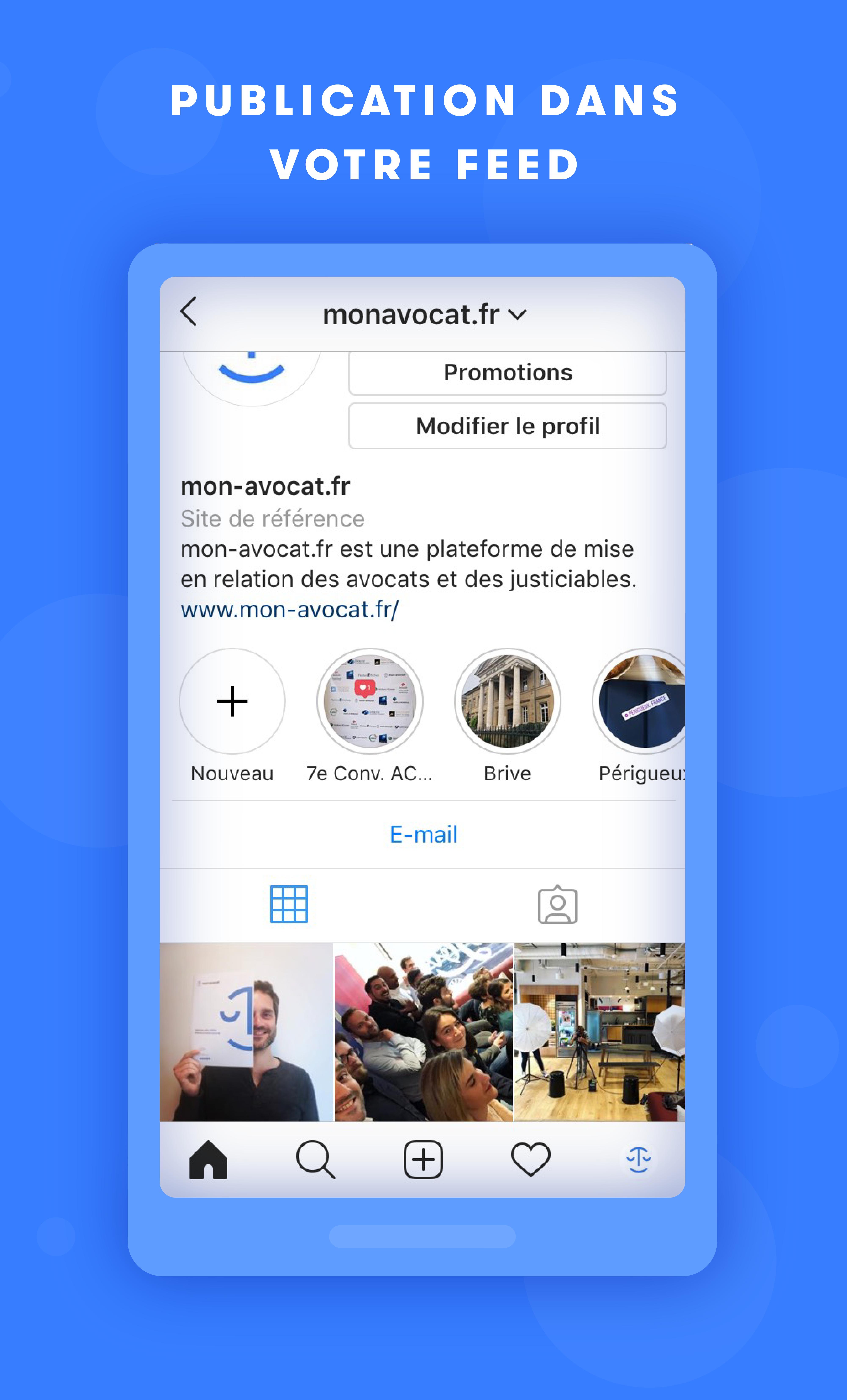 Instagram - publication dans votre feed