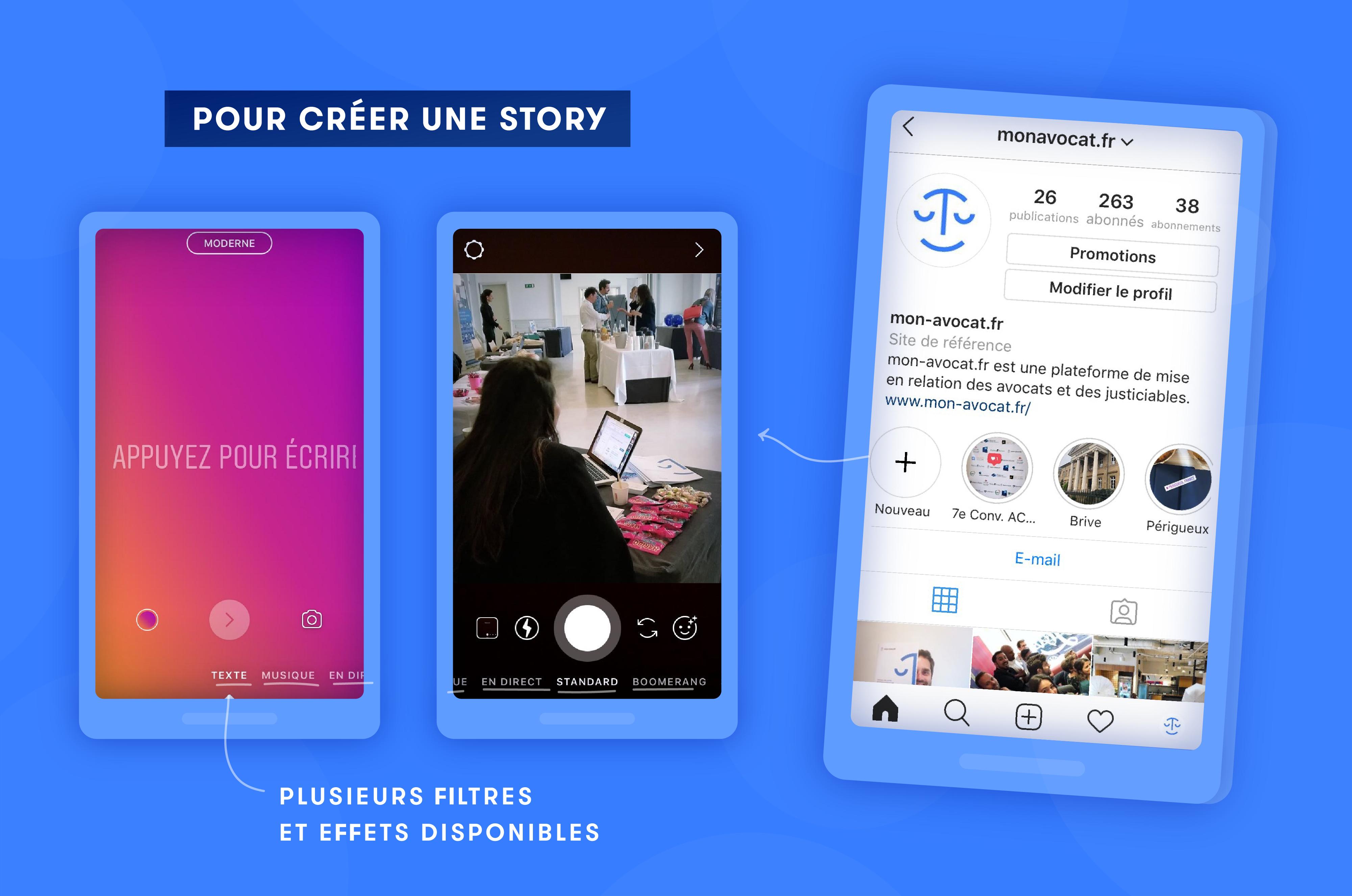Créer une story sur Instagram