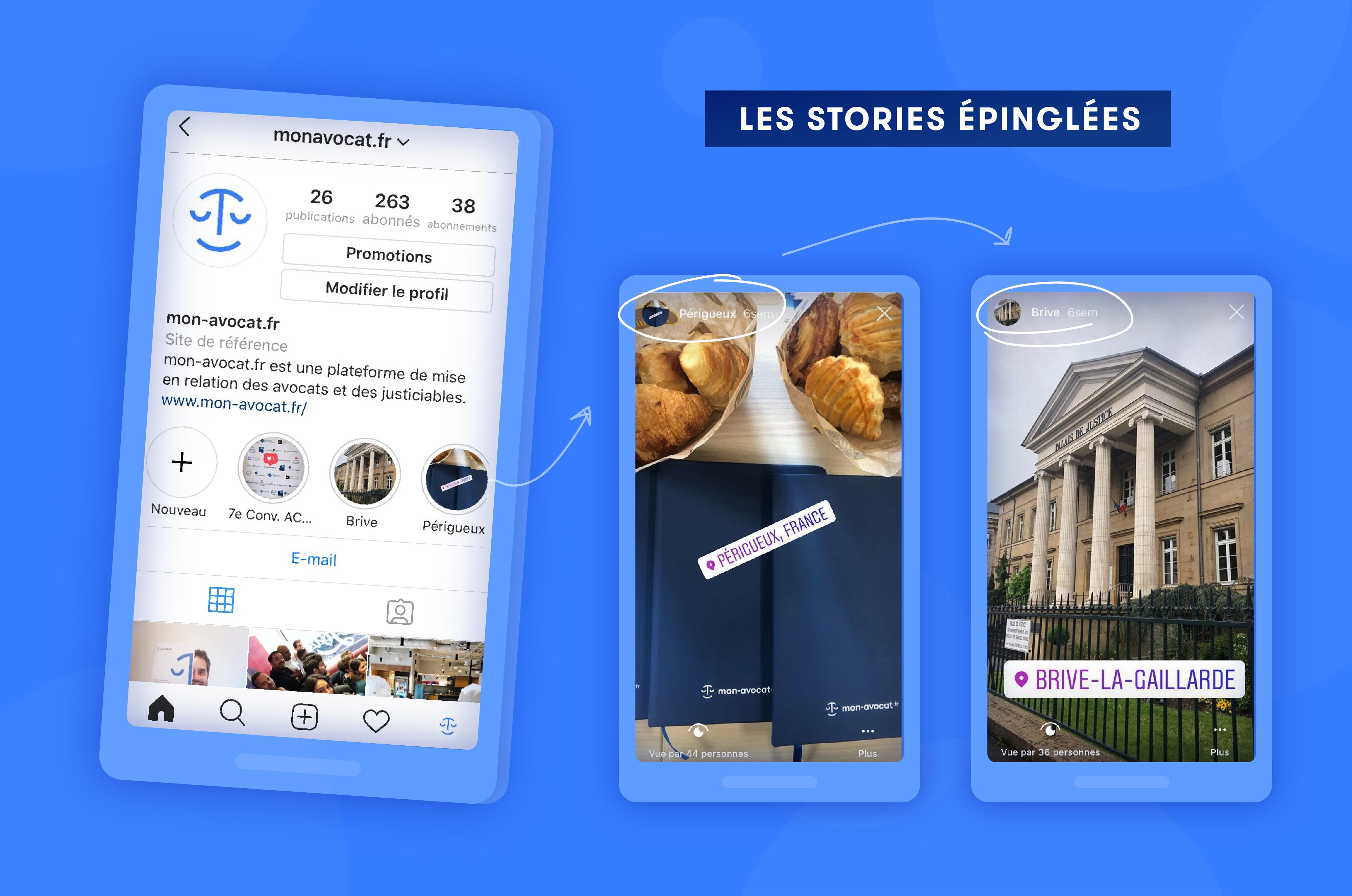 Les stories épinglées sur Instagram