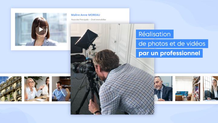 Réalisation de photos et de vidéos par un professionnel