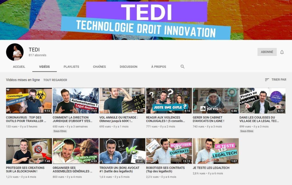 Chaîne YouTube de TEDI